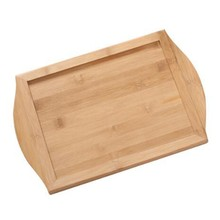 Serving Tray Bamboo - Wooden Tray with Handles - Great for Dinner Trays, Tea Tray, Bar Tray, Breakfast Tray(China)