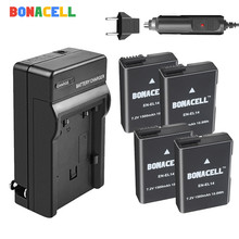 BONACELL 1500mAh EN-EL14 ENEL14 EN EL14 Camera Battery + Charger Replacement For Nikon D5200 D3100 D3200 D5100 P7000 P7100 MH-24