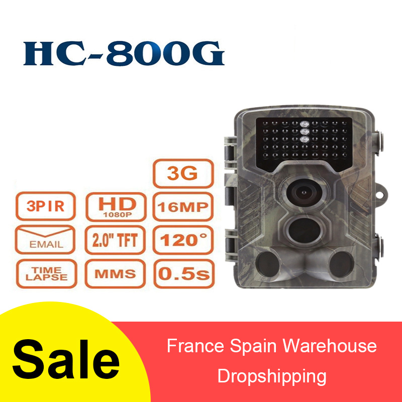 3G MMS SMTP Hunting Camera HC800G  HC 800M SMS 16MP 1080P Cellular Mobile Trail Night Vision Hunting Cameras
