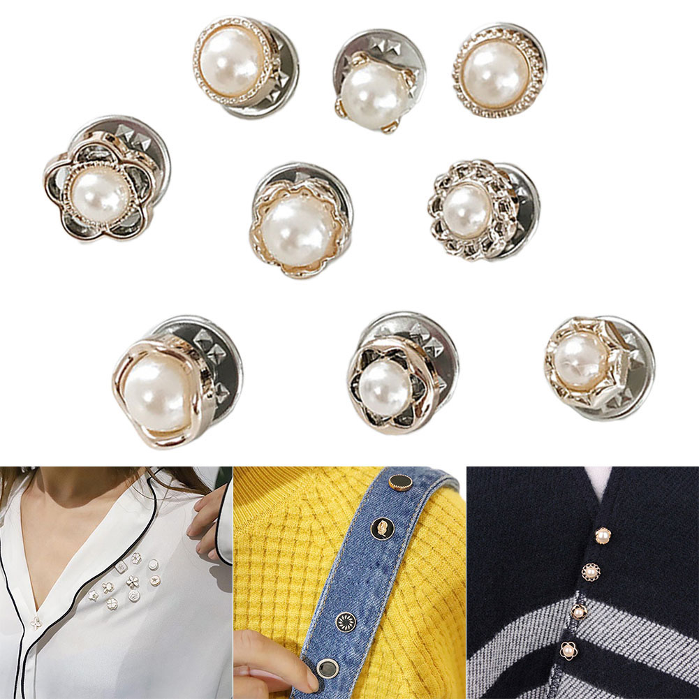 Newly 10Pcs Prevent Accidental Exposure Buttons Brooch Pins Badge