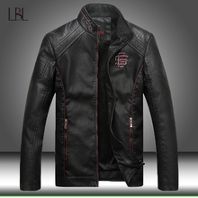 Leather Jacket Men Fleece Lined Thick Warm Faux Leather Winter Jackets Mens Motorcycle For Male Bomber Jackets Coat Man Outwear