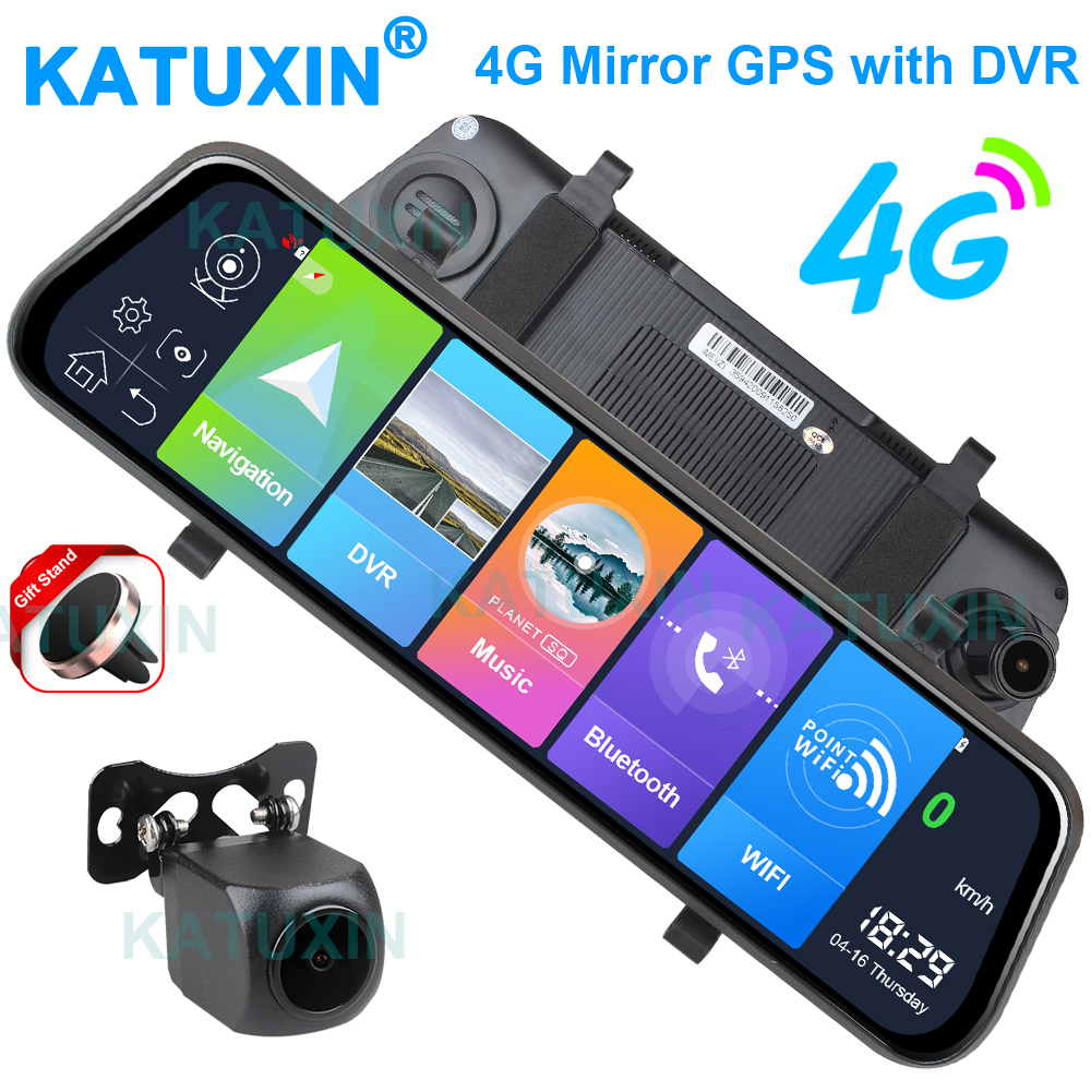 "KATUXIN 10"" Touch 4G ADAS Android 8.1 Mirror Dash Cam GPS Nav WIFI Bluetooth Streaming media Rear View Mirror DVR Recorder T991 1"