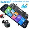 "KATUXIN 10"" Touch 4G ADAS Android 8.1 Mirror Dash Cam GPS Nav WIFI Bluetooth Streaming media Rear View Mirror DVR Recorder T991 1"