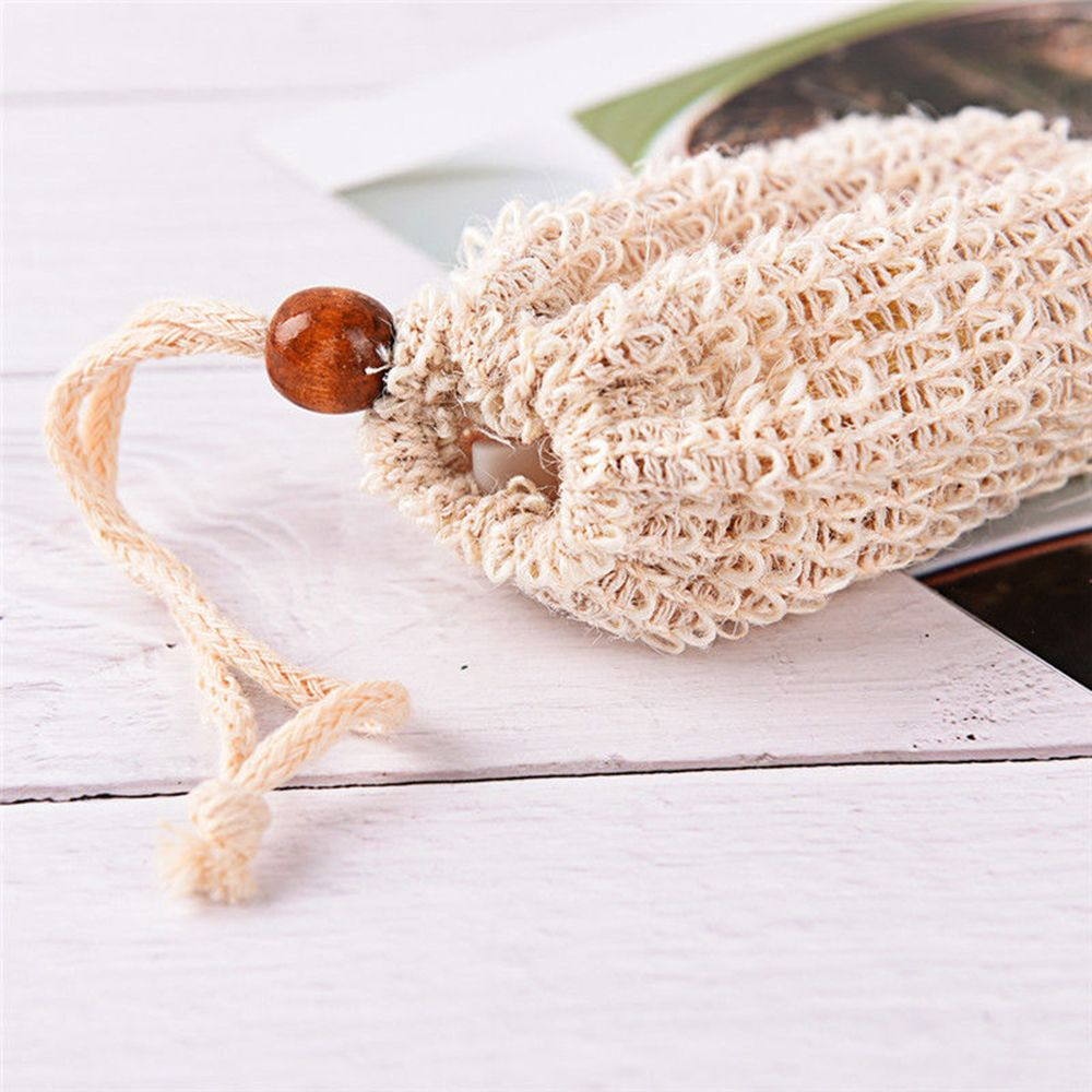 1pc New Style Saver Pouches Bath Soap Bag Natural Sisal Shower