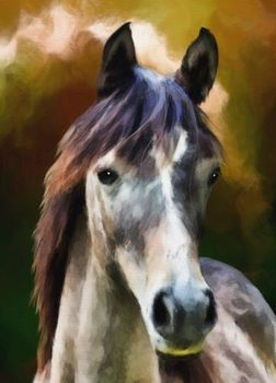 "perfact 24x36 oil painting handpainted on canvas "" horse"""