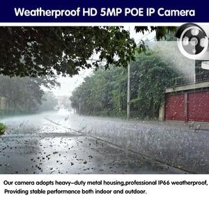 Image 5 - HCVAHDN 8CH 5MP POE NVR Xmeye CCTV מערכת 4.0MP מקורה חיצוני PoE IP מצלמה IR ראיית לילה וידאו אבטחת מעקב ערכות