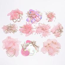 New Style Fashion Resin Flower Long Earrings Jewelry Findings Petal Dangle Earrings DIY Jewelry Package For Gift Handmade Making