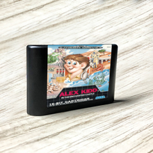 Alex kidd no castl eur encantado etiqueta flashkit md electroless ouro pcb cartão para sega genesis megadrive console de jogos de vídeo