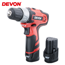 DEVON 12V Multi-function Cordless Drill Lithium-Ion Electric Screwdriver 2-Speed Power Driver tool Rechargeable Home Woodworking