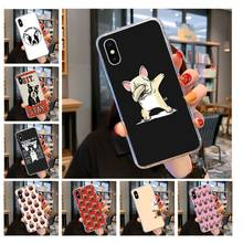French Bulldog Dog Custom Photo Soft fundas Phone Case for iPhone 11 pro XS MAX 8 7 6 6S Plus X 5 5S SE XR cover(China)