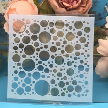 13cm Bubble Dot Circle DIY Craft Layering Stencils Painting Scrapbooking Stamping Embossing Album Paper Card Template F5170-5 reusable feather stencils for card making stamping gift box polymer clay scrapbooking chalk acrylic painting 5 5 5 5 1pc