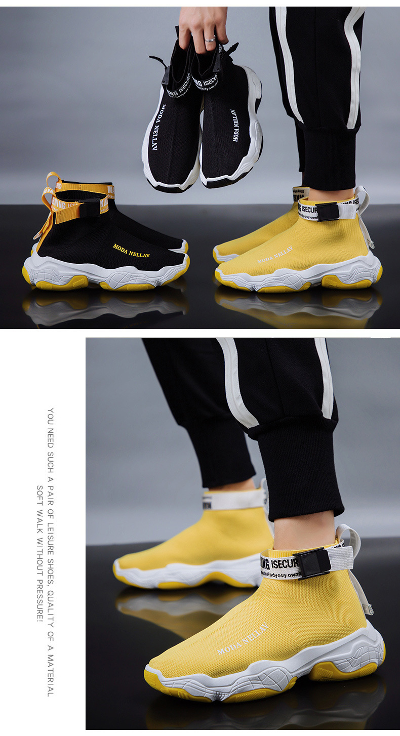 2019 New Sport Athletic Running Shoes Men Brand Sock Sneakers Lace-Up Breathable Jogging Trainers Male Boy Cool Walking Footwear 51