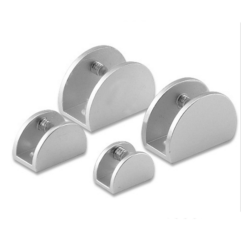 4Pcs/set High Quality Space Aluminum Glass Clips Adjustable Wall Mounted Glass Shelf Clamp Bracket 5-15mm Glass Holder