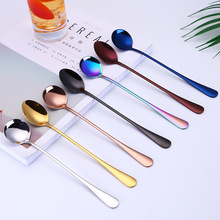 304 Stainless Steel Cocktail Long Handle Spoon Creative Mixing Ice Cream Dessert Coffee Spoons