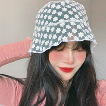 2020 Kpop New Fashion Aesthetic Egirl Women Lace fascinator Hat Summer Wide Brim Sun White Black Wedding Decoration