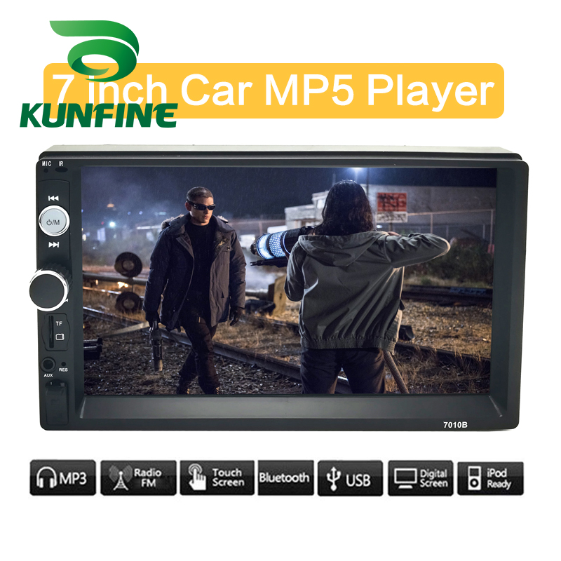 KUNFINE Universal 2 Din 7 Touch Screen Car Multimedia Player Car Radio Car Stereo MP5 MP3 Player With Bluetooth FM/USB/AUX image