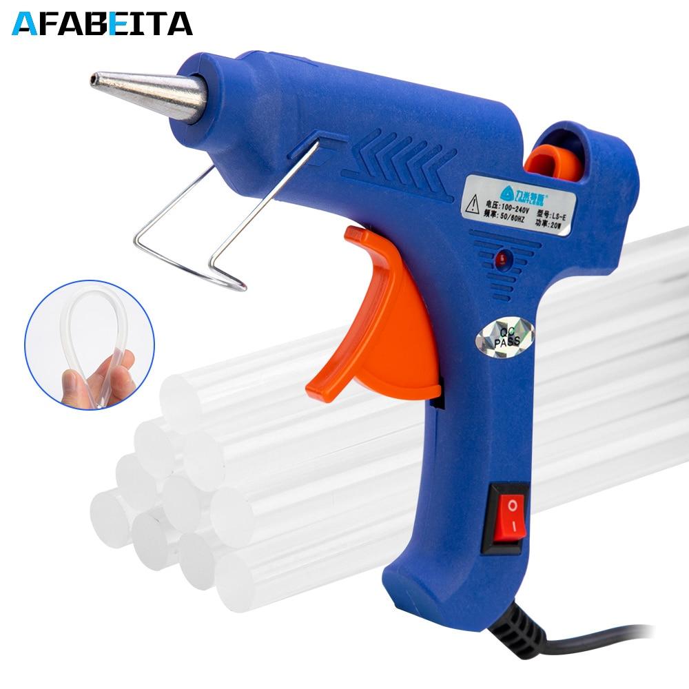 20 Вт термоплавкий клеевой пистолет с 7 мм клеевыми палочками промышленные мини пистолеты термо Электрический термотемпературный ремонтный инструмент DIY|Клеевые пистолеты|   | АлиЭкспресс
