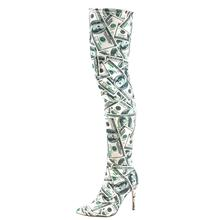 Ladies Shoes Boots Over-The-Knee Thigh Big-Size Fashion Women TIMETANG Dollars-Paint