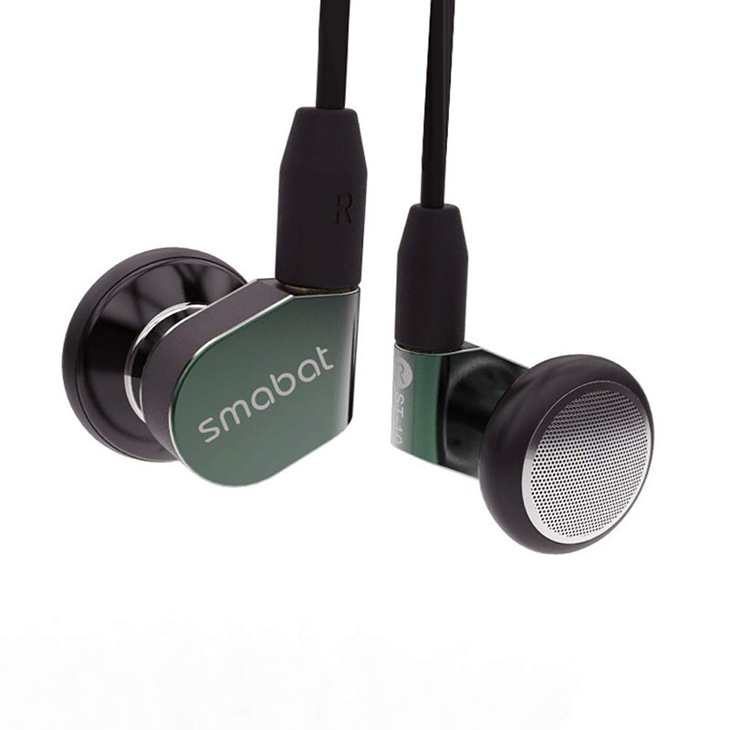Smabat ST-10 15.4mm Dynamic Drive Metal Hifi Earphone Stereo Headset Hifi Wired Music Earbuds MMCX Detachable Cable