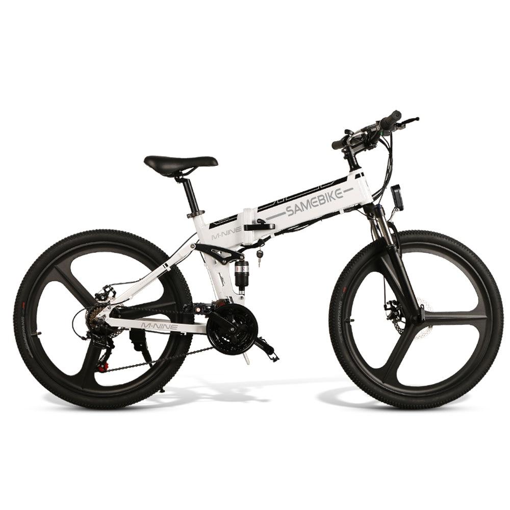 Samebike LO26 EU Free Ship Folding Moped Electric Bike 26Inch for Snow Urban Offroad Mountain 350W 48V 35KM/H with 80KM Milage