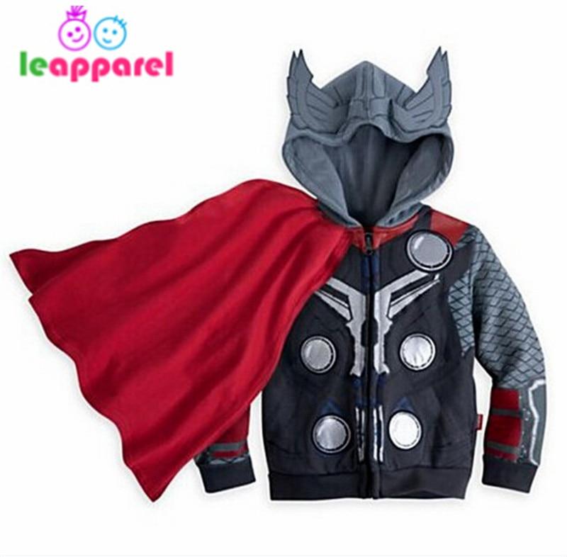 LEAPPAREL New Arrival Boys Girls Hoodies Avengers Marvel Superhero Clothes America Spiderman Sweatshirt Kids Cosplay