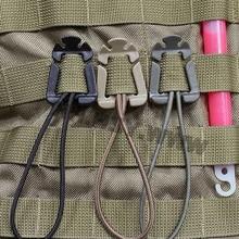 1 шт. эластичный шнур висячая пряжка зажим Открытый Дорожный набор зажим Военный Открытый лагерь Поход карабин