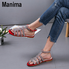 new fashion women shoes sandals luxury noble dress shoes party hot sale ankle high heel rhinestone cage vintage style gladiator 2020 new summer flat ankle buckle gladiator sandals women fashion glitter beach shoes women large size flat heel women's shoes