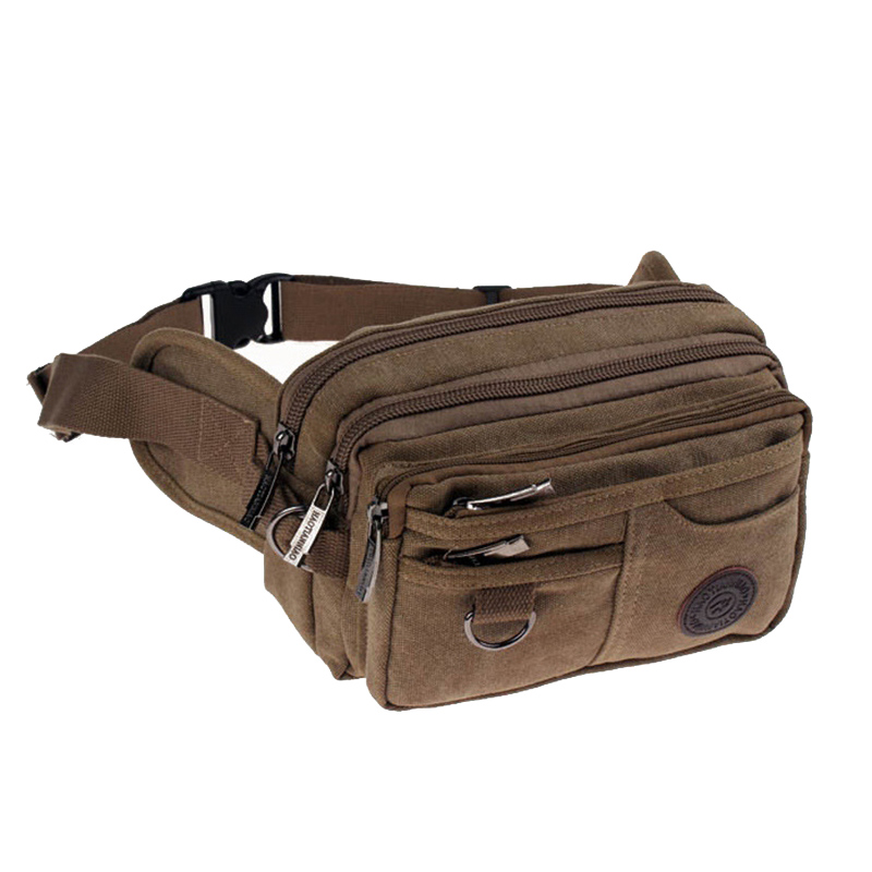 High Quality Casual Canvas Waist Packs Purse Men Bag Portable Vintage Men And Women Waist Bags Travel Belt Wallets Free Shipping