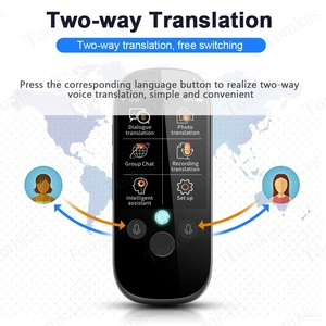 Image 3 - Tomkas tradutor de voz simultânea 2.4 Polegada wifi foto tradução multi idioma portátil inteligente tradutor de voz para o turismo