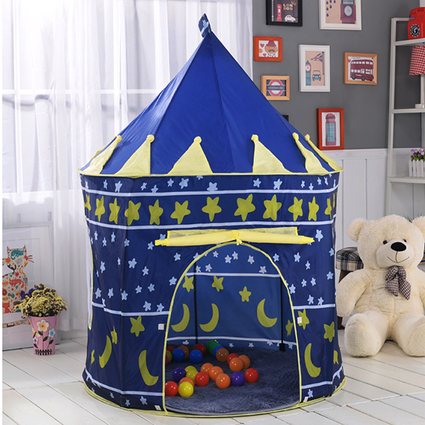 Princess Prince Play Tent Portable Foldable Tent Children Boy Castle Play House Kids Outdoor Toy Tent