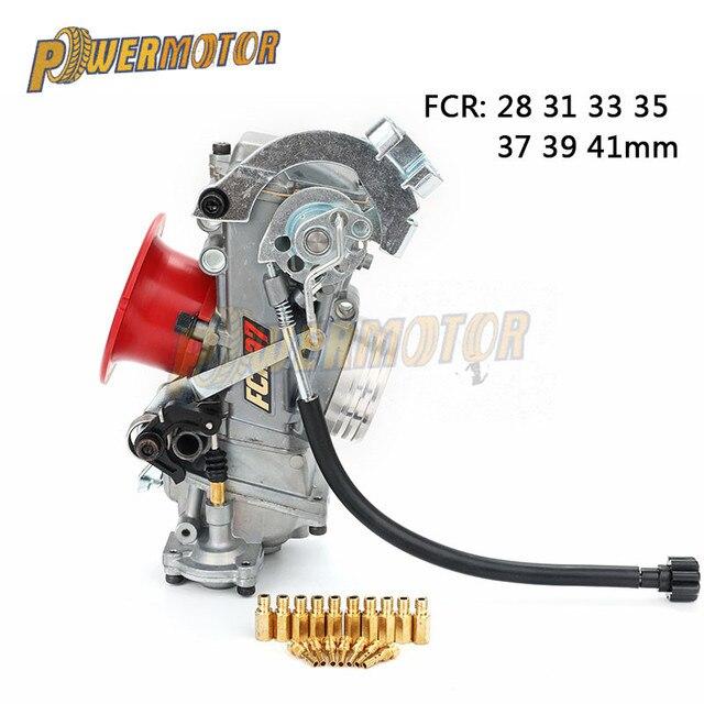 FCR28 31 33 35 37 39 41mm FCR wyścigi gaźnika FCR39 CRF pochyłą stronę gaźnika dla CRF450/650 FS450 Husqvarna450 KTM wyścigi