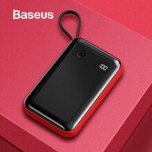 Baseus 3A Mini Power Bank 10000mAh Built-in USB Cable Digita