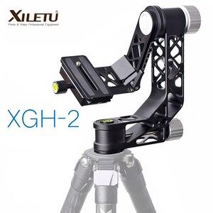 Image 1 - XILETU XGH 2 برو الثقيلة سبائك الألومنيوم Gimbal ترايبود رئيس استقرار سريعة الإصدار لوحة ل المقربة عدسة التصوير الطيور