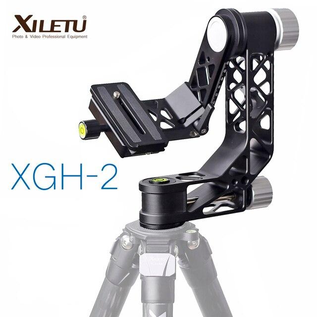 XILETU XGH 2 برو الثقيلة سبائك الألومنيوم Gimbal ترايبود رئيس استقرار سريعة الإصدار لوحة ل المقربة عدسة التصوير الطيور