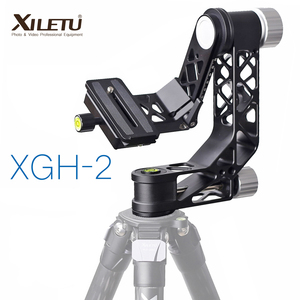 Image 1 - XILETU XGH 2 Pro Heavy Duty Aluminum alloy Gimbal Tripod Head Stabilizer Quick Release Plate for Telephoto Lens photography bird