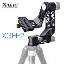 XILETU XGH 2 Pro Heavy Duty aleación de aluminio Gimbal trípode estabilizador de la cabeza Placa de liberación rápida para teleobjetivo fotografía pájaro