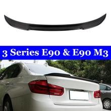 E90 & M3 Carbon Fiber Rear Trunk Spoiler 318i 320i 325i 330i For BMW 3 Series Sedan Wing CF