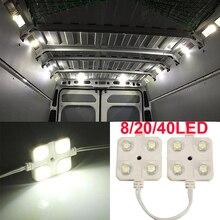 8/20/40 LED Car Roof Light Kit Van Interior Ceiling Lighting Cargo for Camper Inside Lamp For RV Boat Trailer Lorries Van