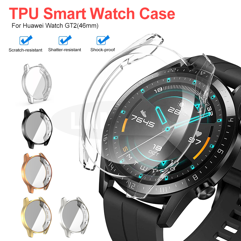 Soft Protect Cover For Huawei Watch GT2 46mm Case TPU Bumper For Watch GT 2 46mm Frame For Huawei GT 2 Smart Watch Accessorie