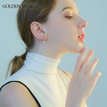 stars high-grade pearl earrings studded sunflower super fairy for women  fashion