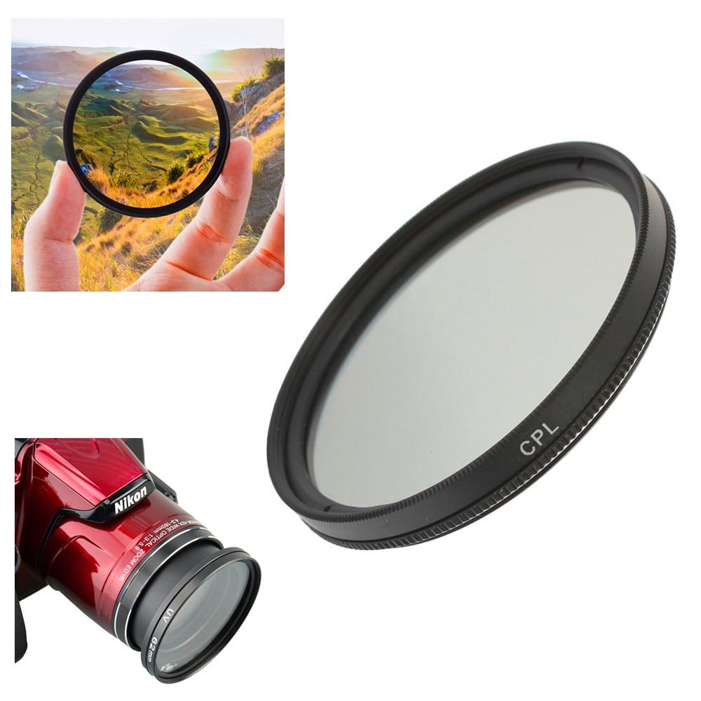 Circular polarizador cpl filtro & adaptador anel para nikon coolpix b700 p610 p600 p530 p520 p510 câmera digital
