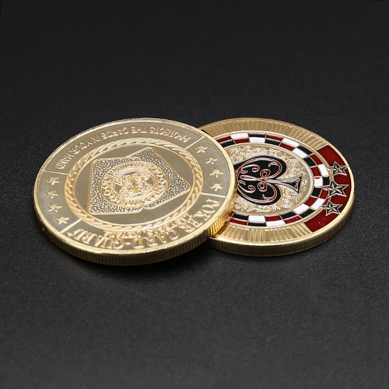 Metal Banker Press Card Poker Chips Texas Hold'em Souvenir Commemorative Coins