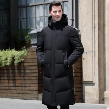 2020 New Men Down Jacket Mens Winter Coat Long Parkas White Duck Down Coats fur Hooded Thick Warm Business Casual Male Outerwear недорого