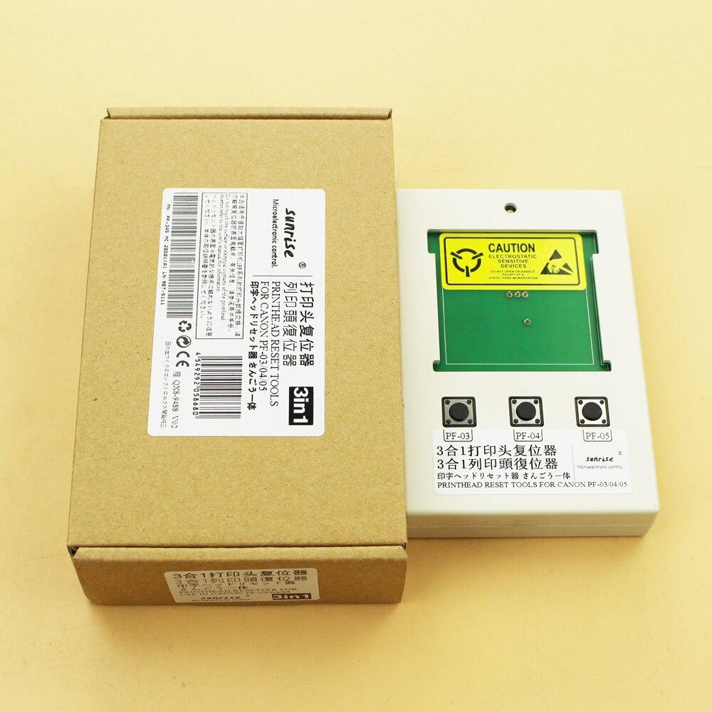 Для Canon PF-03 PF-04 PF-05 3 в 1 Resetter для Canon IPF500/510/600/605/610/700/710/IPF8310S/6300S/9410S печатающая головка сбросить инструменты