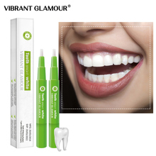 VIBRANT GLAMOUR 2Pcs Teeth Whitening Pen Cleaning Serum Remove Plaque Stains Oral Hygiene Tooth Gel Whitenning Tool Tooth Care