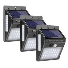 Güneş bahçe lambası 100 LED güneş enerjili PIR hareket sensörü lambası su geçirmez dış mekan aydınlatma dekorasyon ışıkları kablosuz duvar lambası
