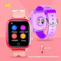 Reloj inteligente 4G con WIFI para niños, dispositivo con Localizador GPS, resistente al agua, control de la temperatura corporal y del ritmo cardíaco, reloj inteligente de presión arterial