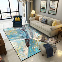 Modern blue Art abstract marble texture door mat living room floor mat bedroom plush rug printed bathroom non slip carpet