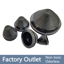 2pcs Rubber Wire Hole dust Covers Plugs Black tapered cable seal Ring grommet gasket inlet outlet case box plate cable protector
