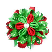5 inch Stylish Hair Clip Christmas Bow Headwear Kids Gift Accessories for Girls Toddlers Baby